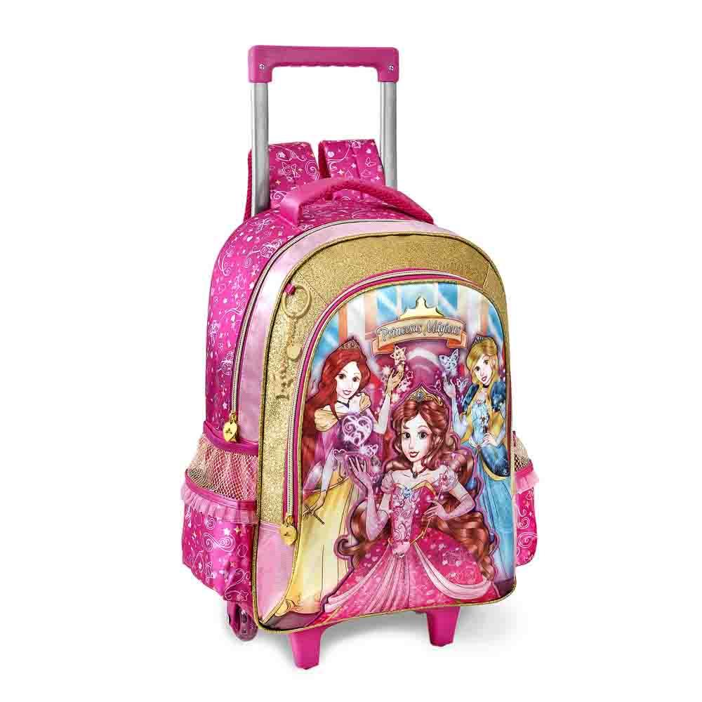 Mochila com Rodinha Pequena Princesas Mágicas - Clio