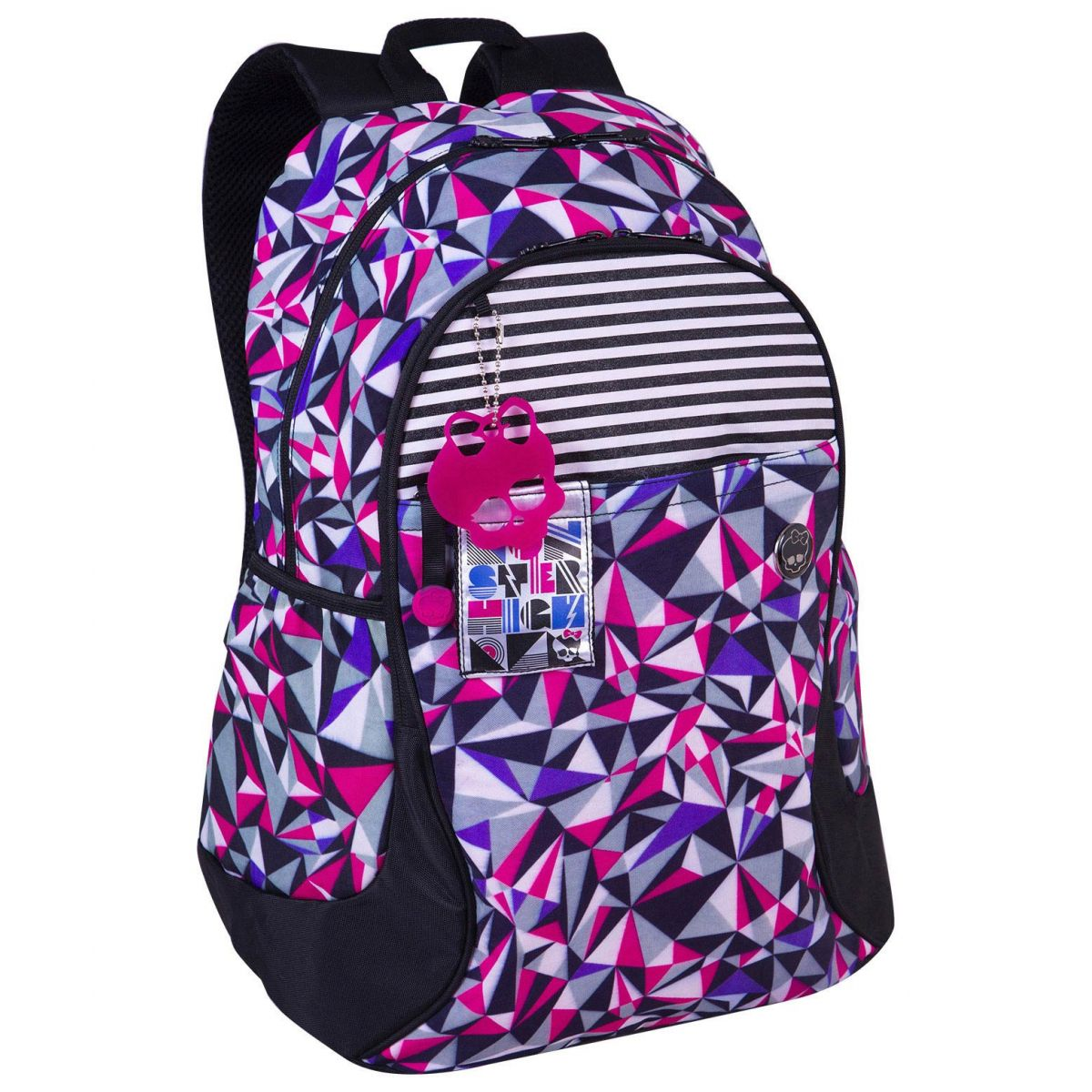 Mochila Costas Grande Monster High Roxa/Rosa - Sestini