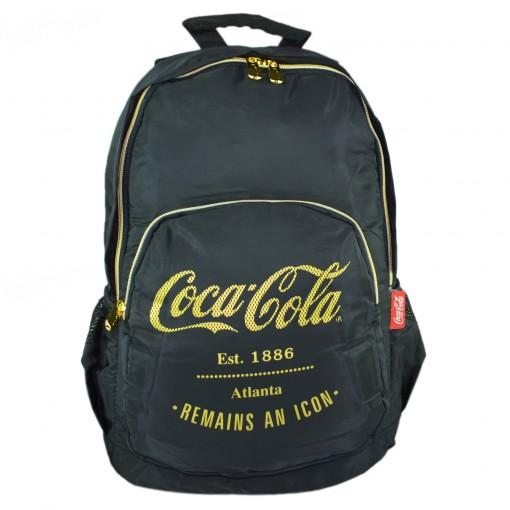 Mochila de Costas Grande Coca Cola Atlanta Preta/Dourada - Pacific