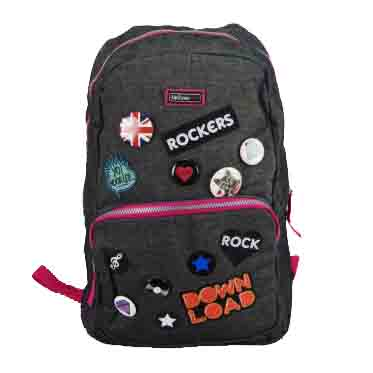Mochila de Costas Grande Rockers Up2you - Luxcel