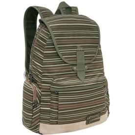 Mochila de Costas Grande Stripe On Bege - TN Bolsas