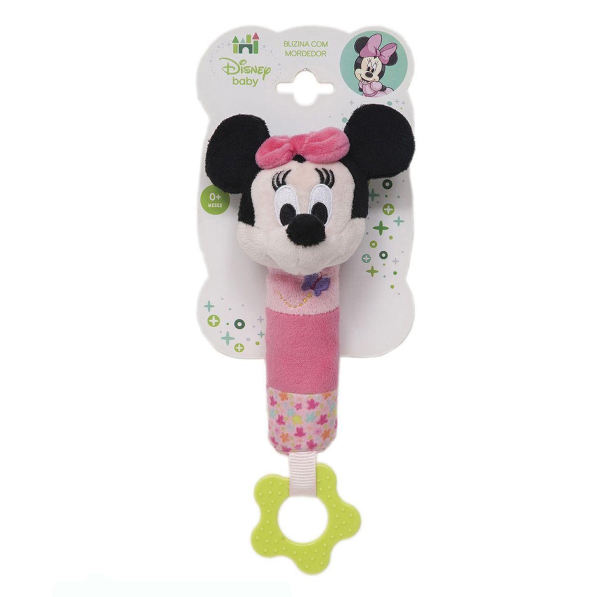 Mordedor com  Buzina Minnie Disney Baby - Buba