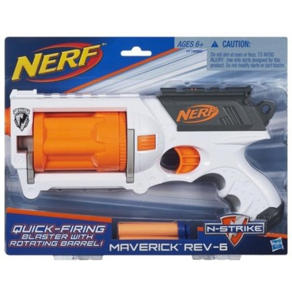 Lançador de Dardos Nerf N-Strike Maverick Rev 6 - Hasbro