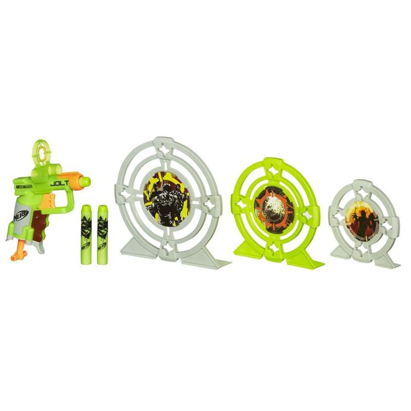 Lançador de Dardos Nerf Zombie Strike Kit de Alvos Jolt - Hasbro