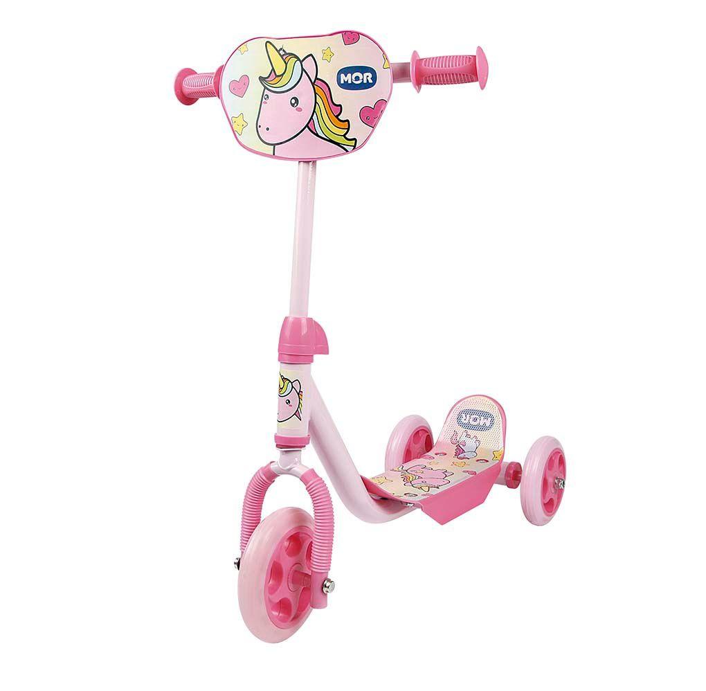 Patinete 3 Rodas Infantil Rosa Unicórnio - MOR