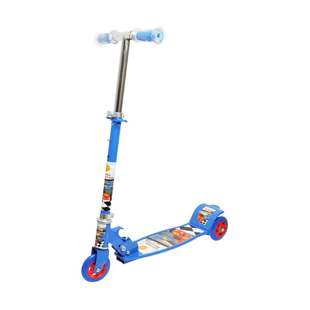 Patinete Corrida Divertida com 3 Rodas - Dm Toys