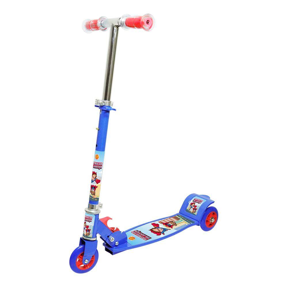 Patinete Patrulha da Justiça com 3 Rodas - Dm Toys