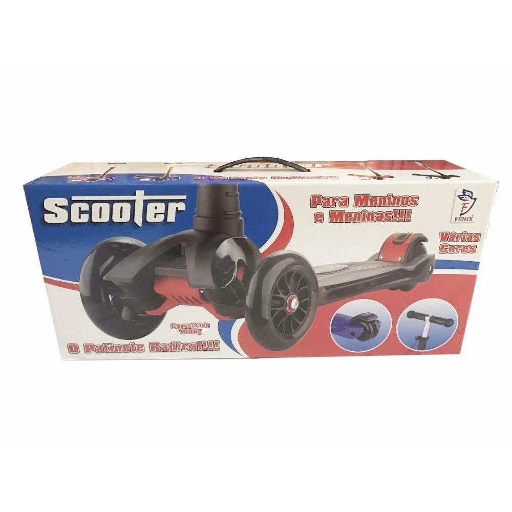 Patinete Scooter Radical com 3 Rodas - Fenix Brinquedos