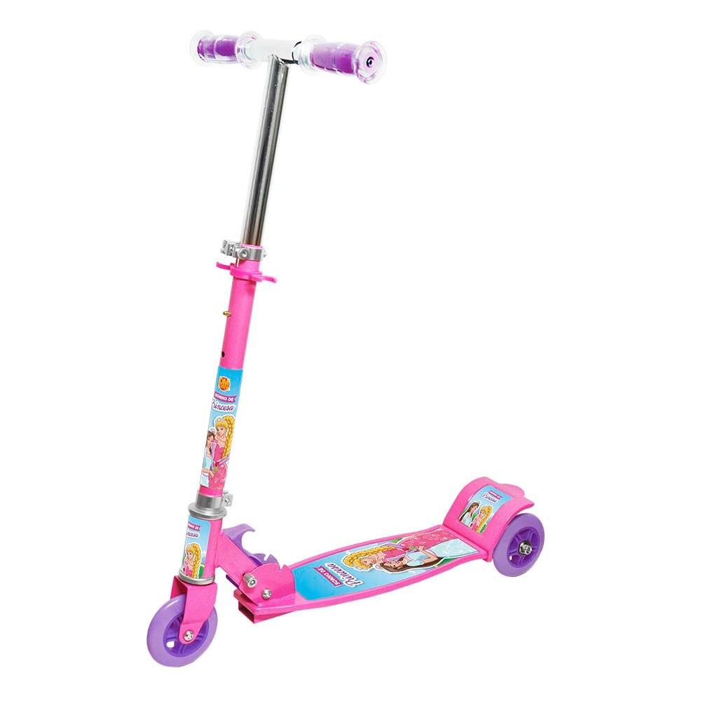 Patinete Sonho de Princesa com 3 Rodas - Dm Toys