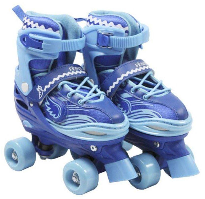Patins Power Roller Star Ajustável Azul com Luz - Fênix