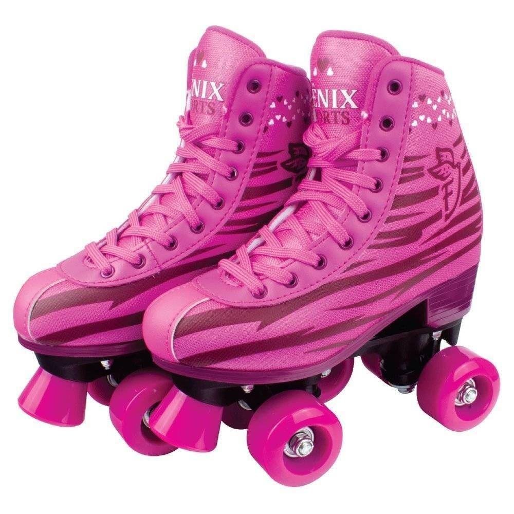 Patins Roller Skate Rosa - Fênix