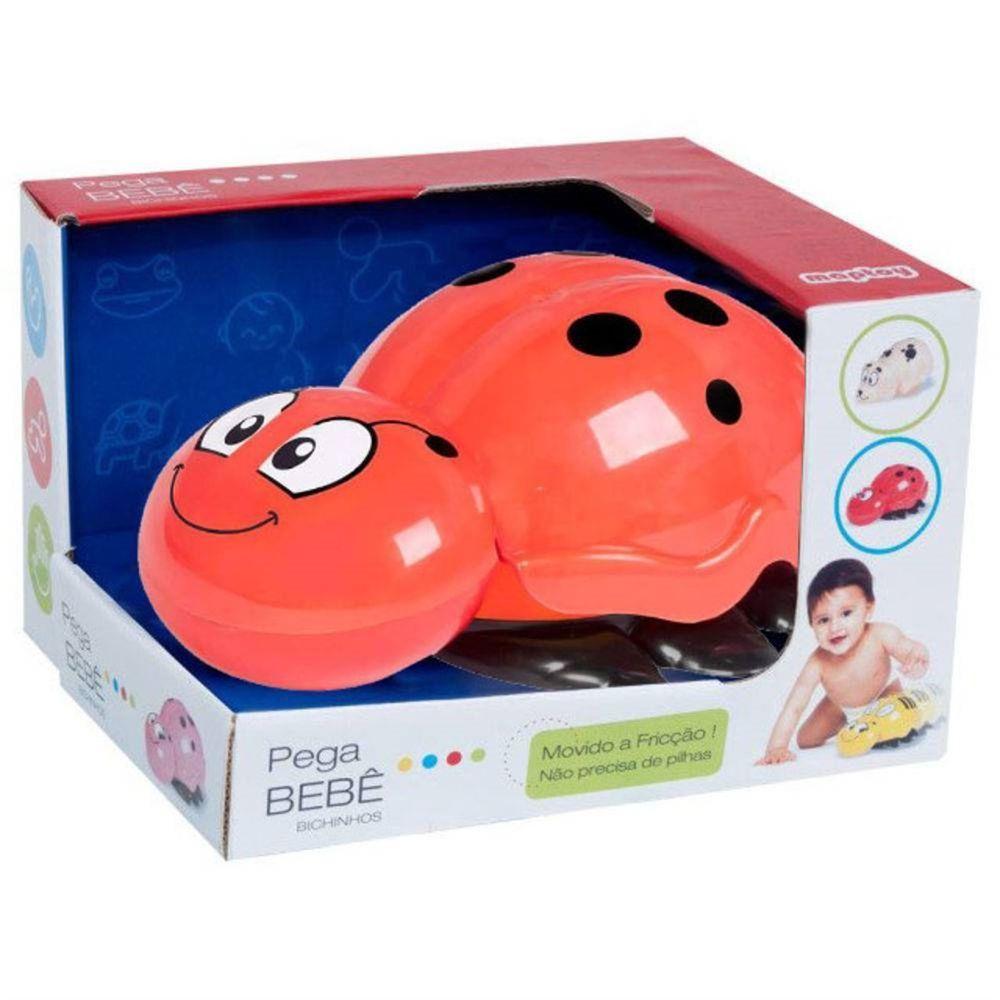 Pega Bebê Bichinhos Joaninha Vermelha Fricção - Maptoy
