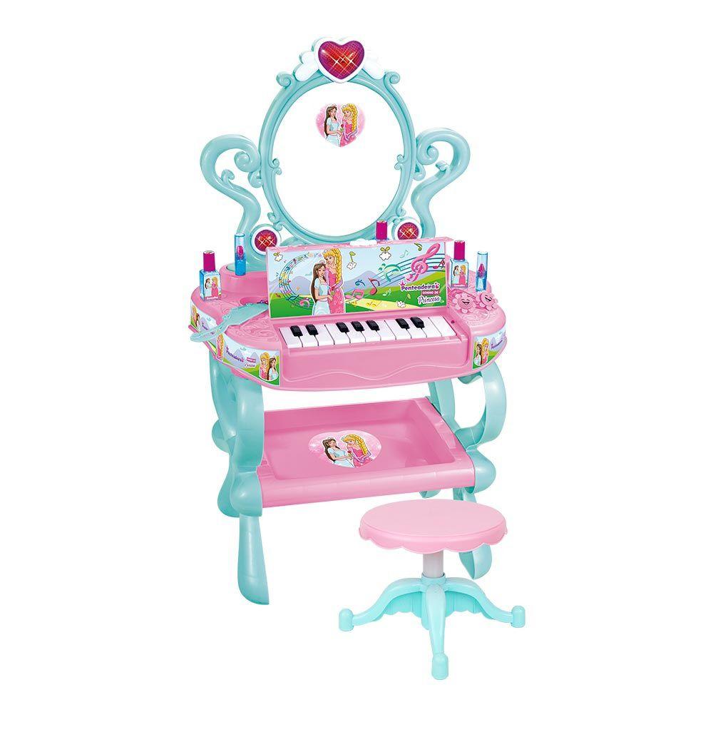 Penteadeira com Piano Sonho de Princesa - Dm Toys