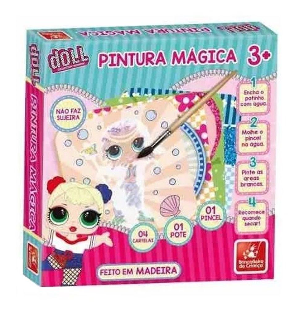 Pintura Mágica Doll em Madeira - Brincadeira de Criança