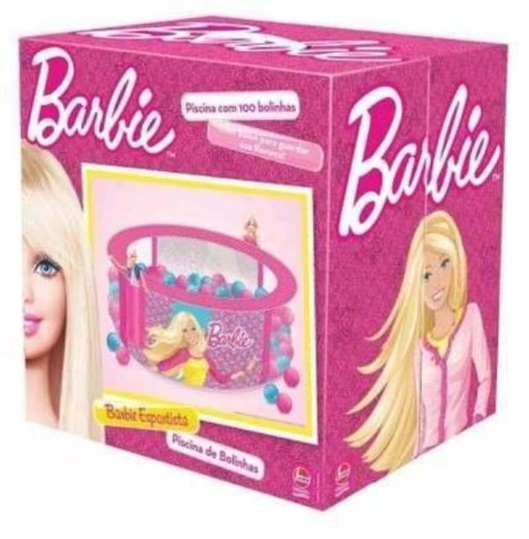 Piscina de Bolinhas Barbie Esportista com 100 Bolinhas - Lider Brinquedos