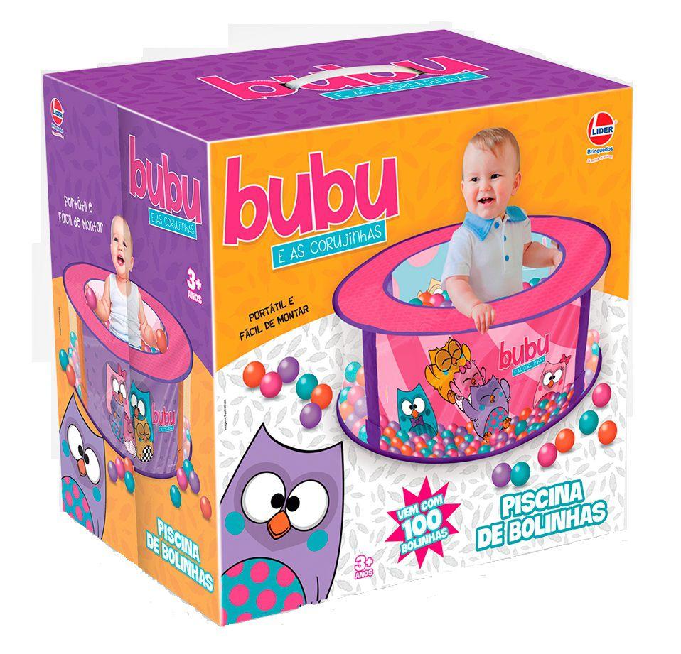 Piscina de Bolinhas Buba e as Corujinhas com 100 Bolinhas - Lider Brinquedos