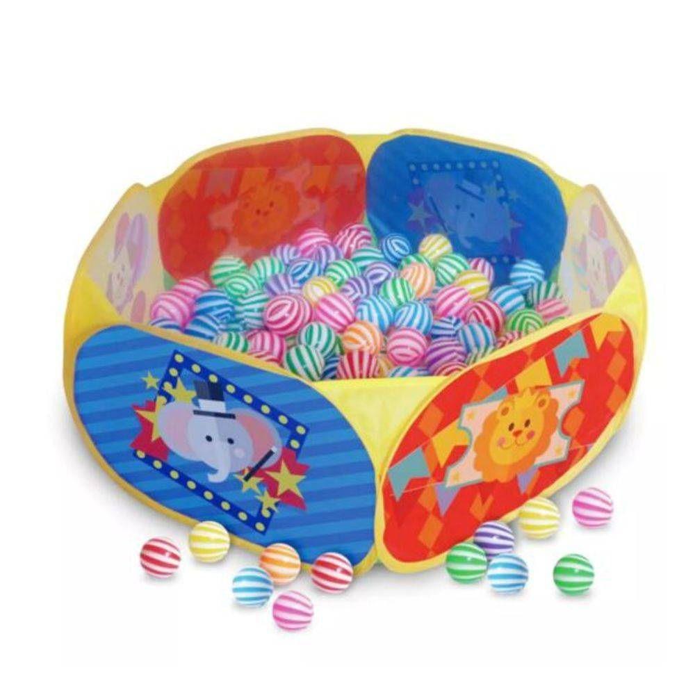 Piscina de Bolinhas Fantástico Circo com 100 Bolinhas Multicoloridas - Pica Pau