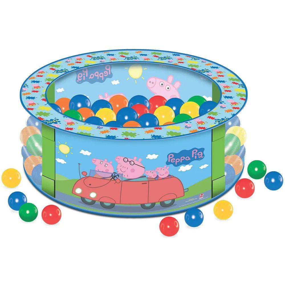 Piscina de Bolinhas Peppa com 100 Bolinhas - Lider Brinquedos