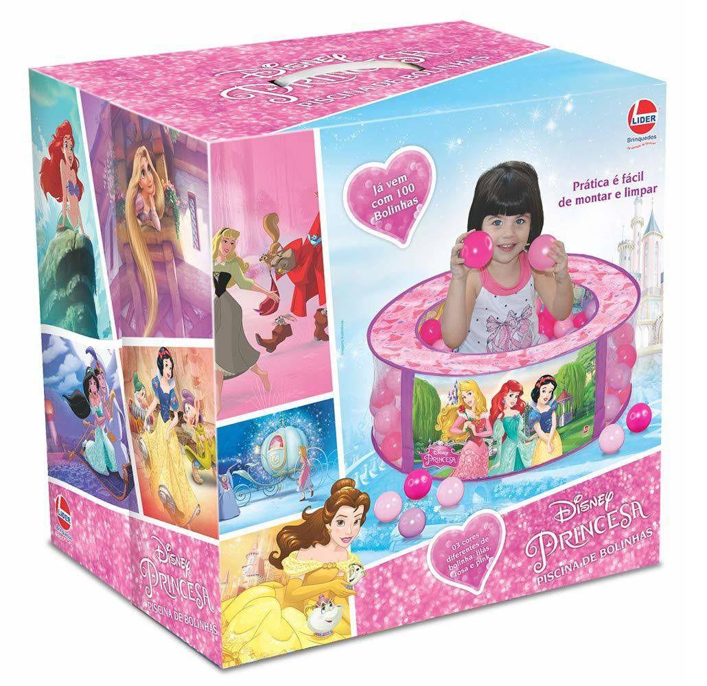Piscina de Bolinhas Princesas Disney com 100 Bolinhas - Lider Brinquedos