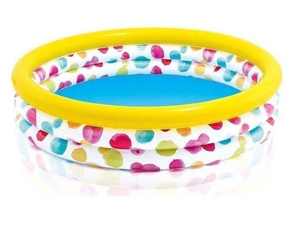 Piscina 3 Anéis Bolas Coloridas 58 Litros - Intex