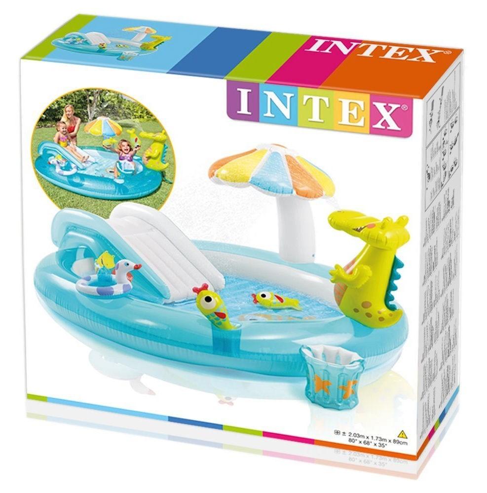 Piscina Inflável Playground Jacaré - Intex