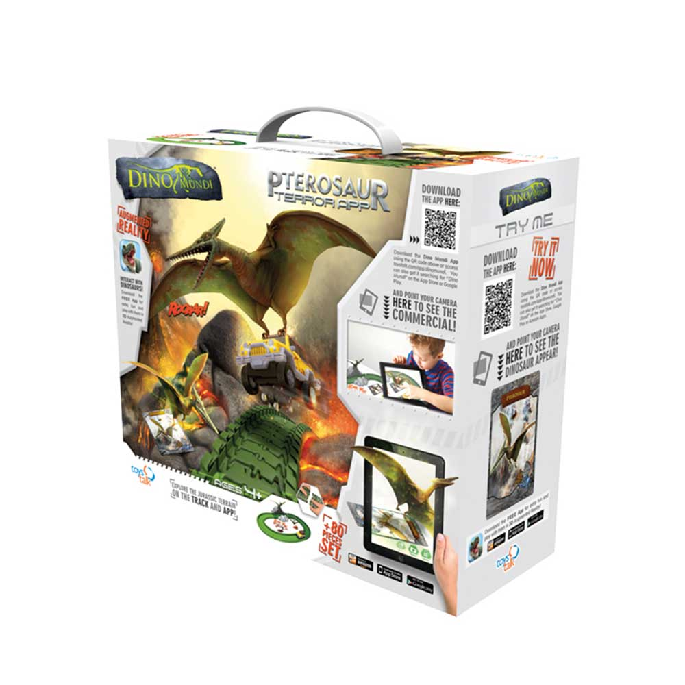 Pista Dino Mundi Ataque Pterossauro 80 Peças - Fun