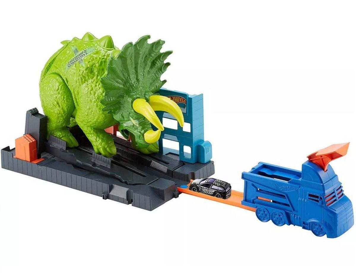 Pista Hot Wheels City Ataque de Triceratops - Mattel