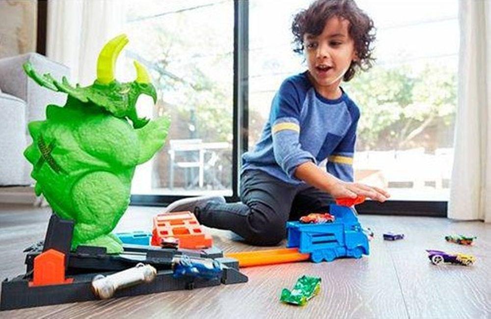 Pista Hot Wheels City Ataque de Triceratops - Mattel
