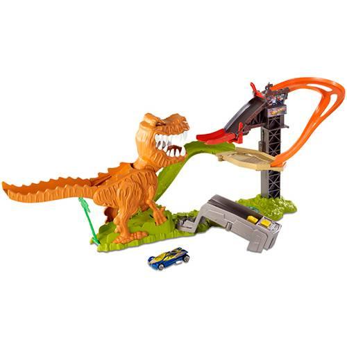 Pista Hot Wheels Ataque do T-Rex Diversos Sons e Frases - Mattel