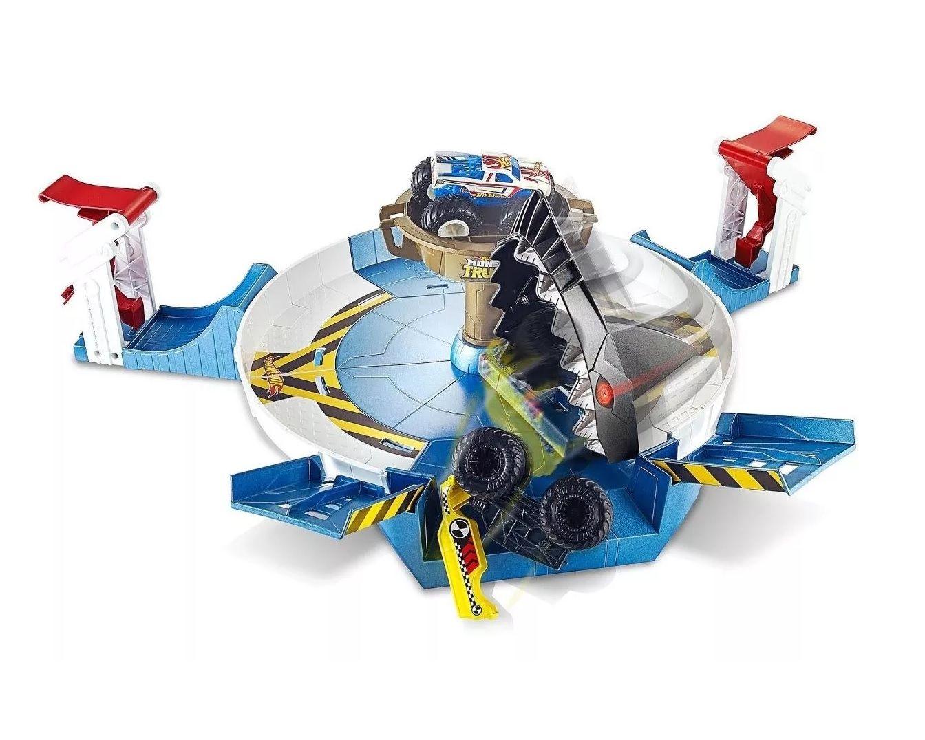 Pista Hot Wheels Monster Trucks Batalha do Tubarão Mecha - Mattel