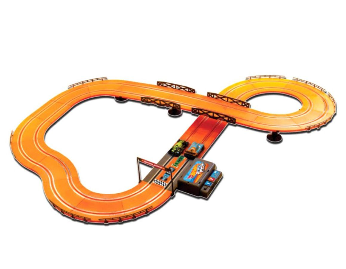 Pista Hot Wheels Slot Car Track Set 380cm com 2 Turbo Boosters - Multikids