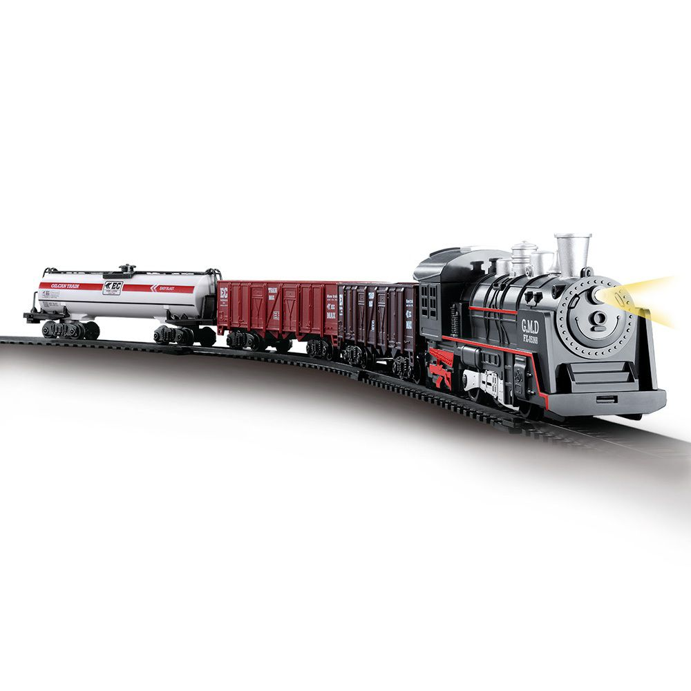 Pista Trem Locomotiva com Luz e Som - Dm Toys