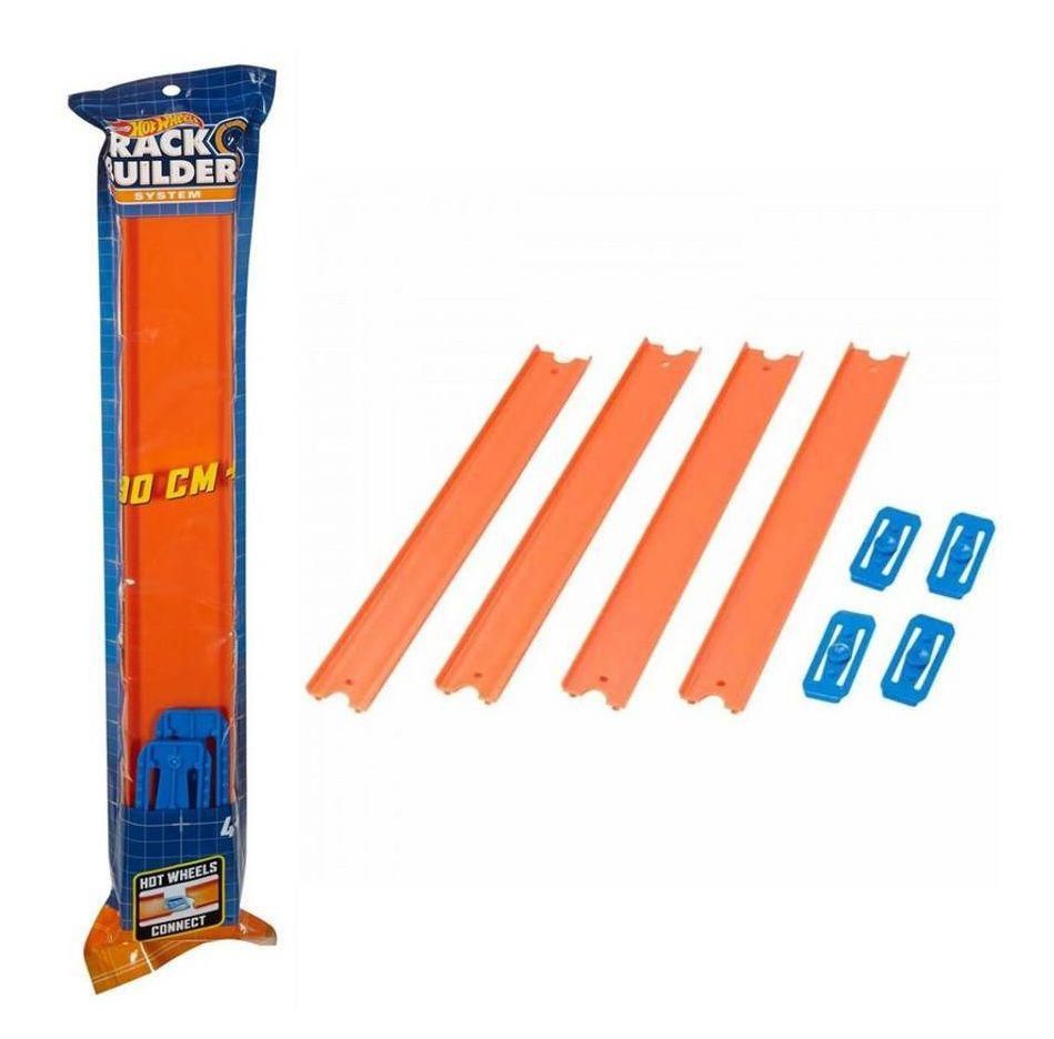 Pistas Hot Wheels Track Builder System 90cm com 4 - Mattel