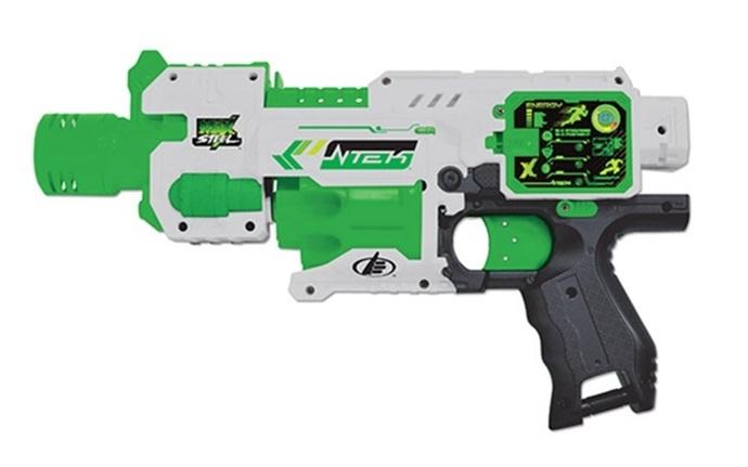 Pistola Automática de Dardos Max Steel - Barão Toys