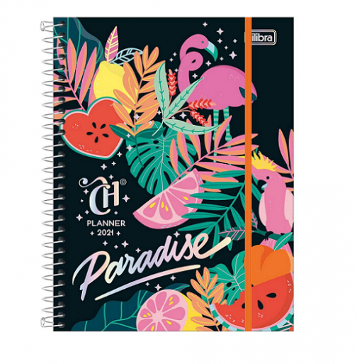 Agenda Planner Espiral Capricho Paradise 2021 - Tilibra