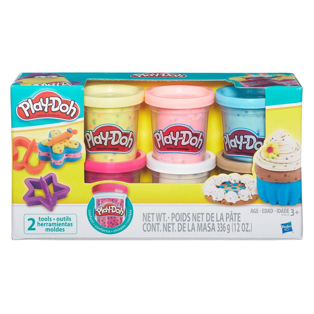 Massinha Play-Doh Confete com 6 Potes - Hasbro
