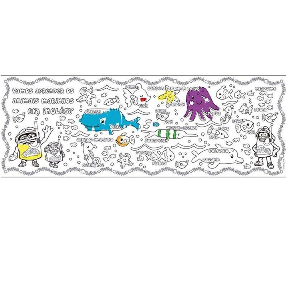 Play-Doh Tapete para Colorir Bilíngue - FUN