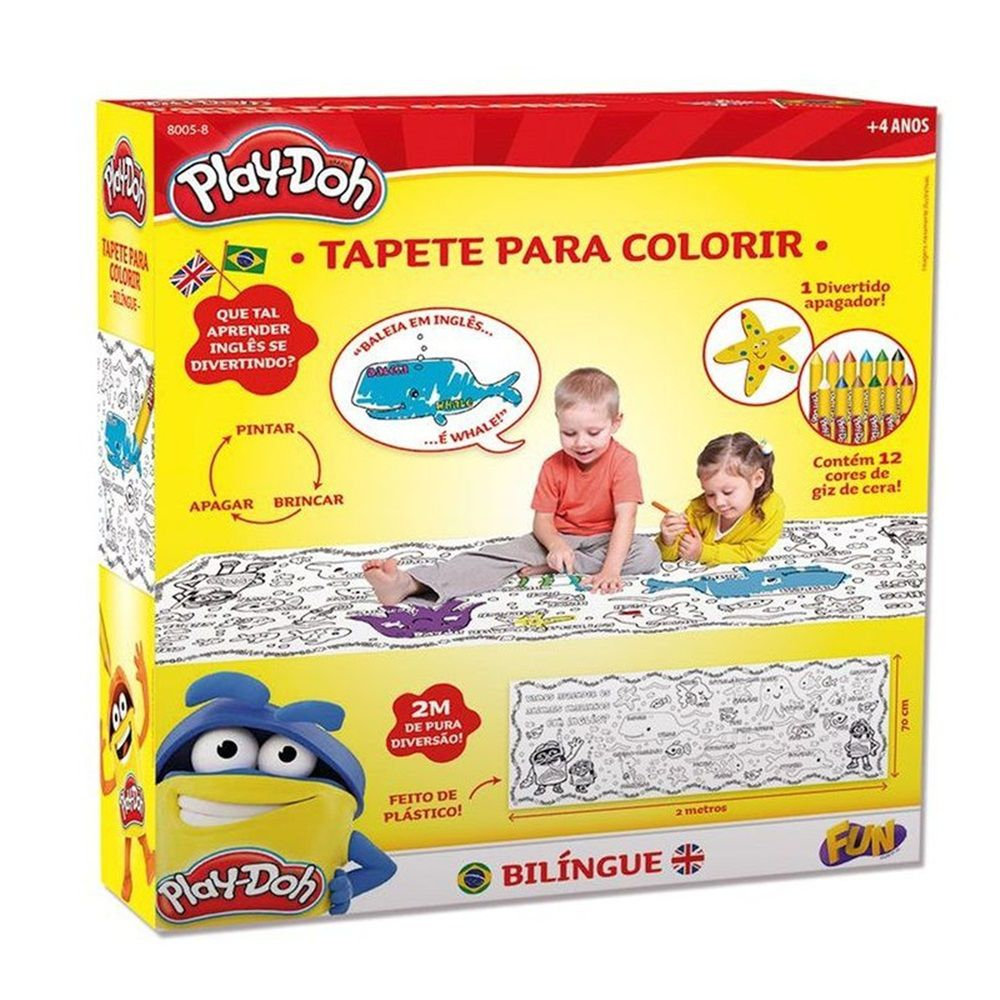 Play-Doh Tapete para Colorir Bilíngue - FUN
