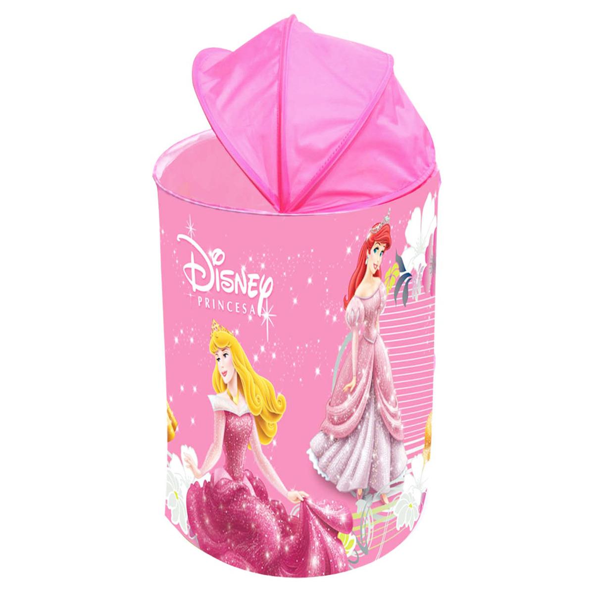 Porta Brinquedos Princesas Disney Rosa - Zippy Toys