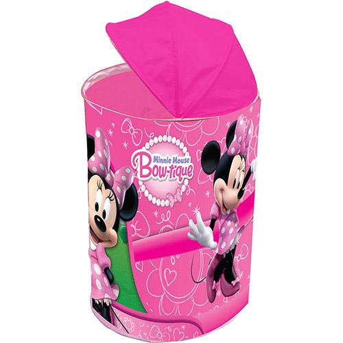 Porta Brinquedos Minnie Bowtique Rosa - Zippy Toys