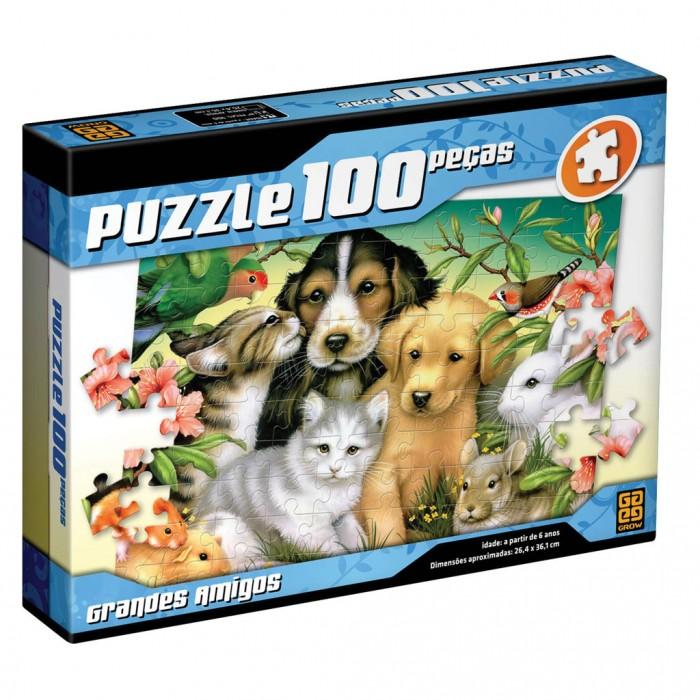 Quebra Cabeça Puzzle Grandes Amigos 100 Peças - Grow