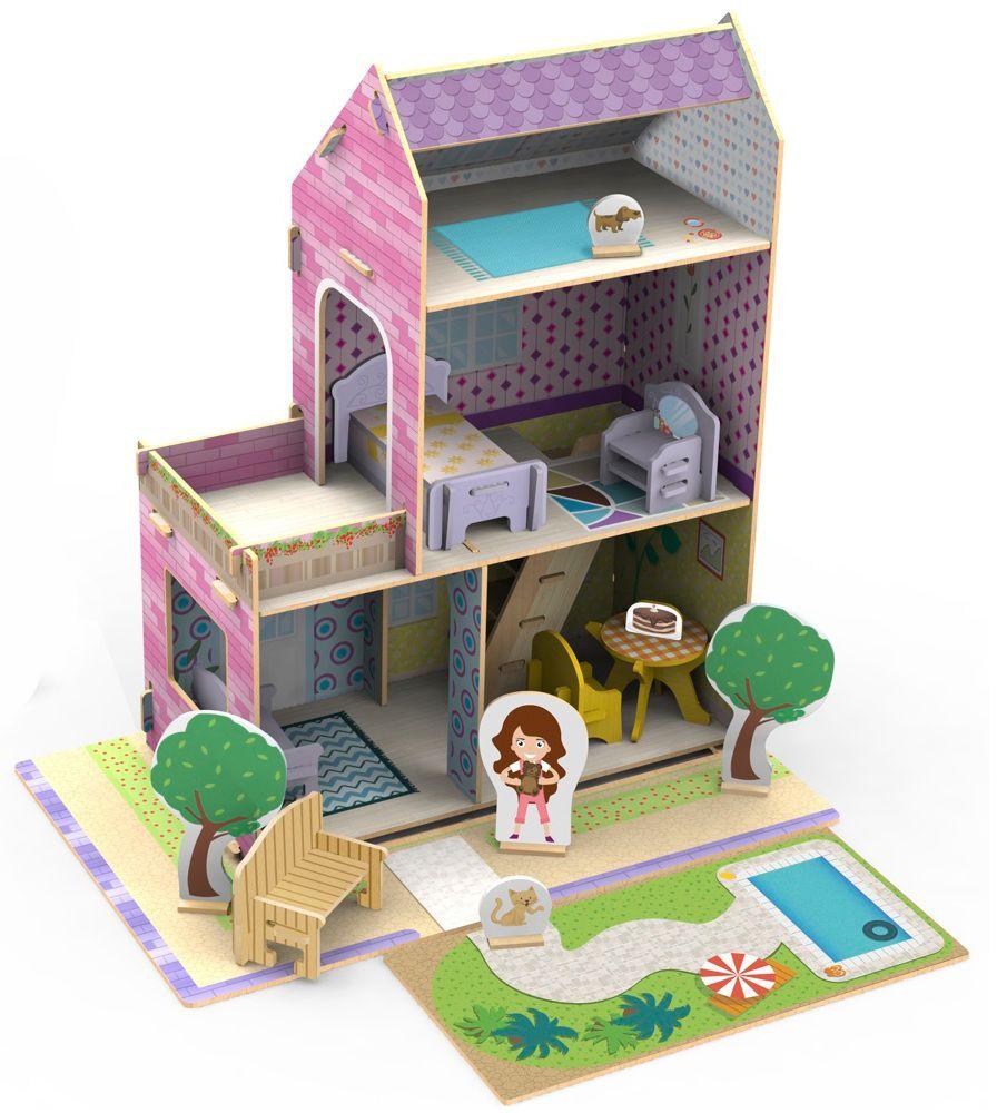 Quebra-Cabeça Little House Verão 3D 50 peças - Xalingo