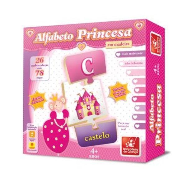 Quebra-cabeça Alfabeto Princesa - Brincadeira de Criança