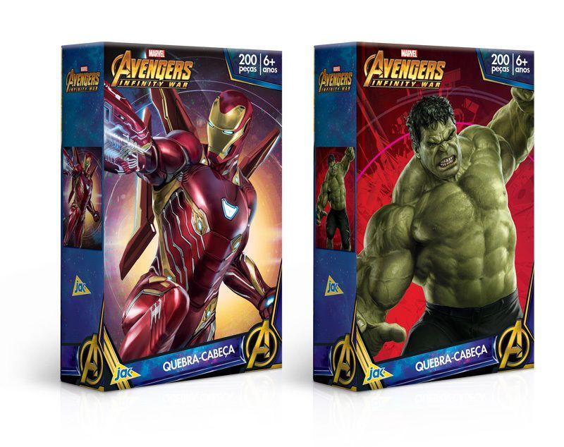Quebra-cabeça Marvel Avengers Infinity War 200 Peças - Jak
