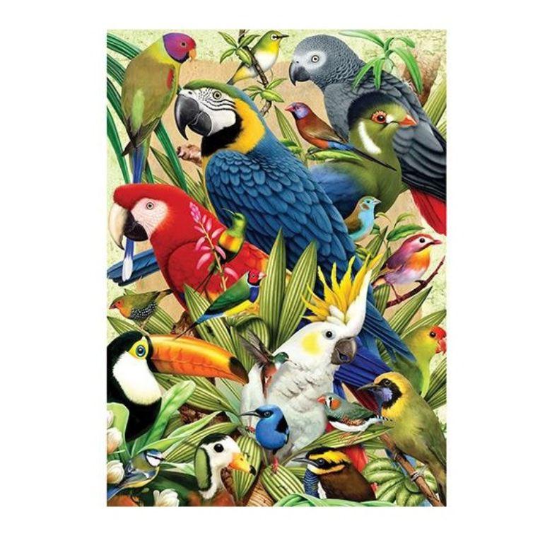 Quebra-cabeça Aves Puzzle 1000 Peças - Grow