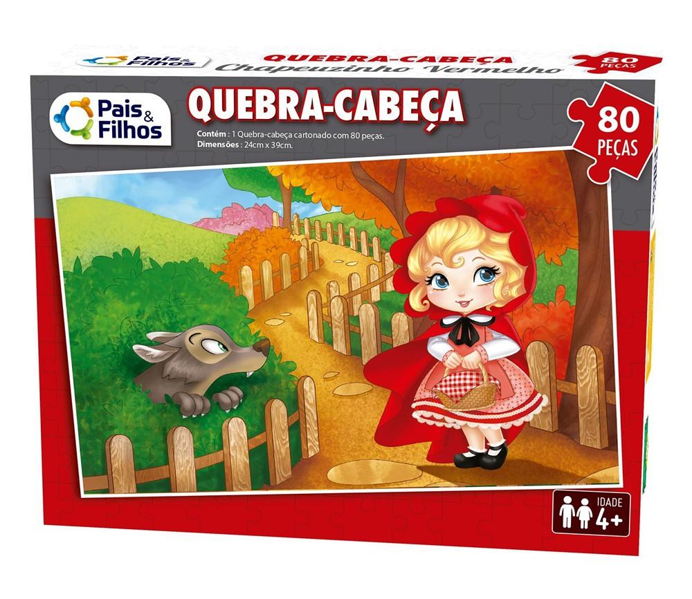 Quebra-cabeça Chapeuzinho Vermelho 80 Peças - Pais e Filhos