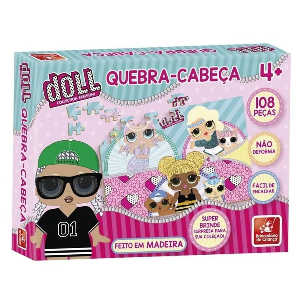 Quebra-cabeça Doll 108 Peças em Madeira - Brincadeira de Criança