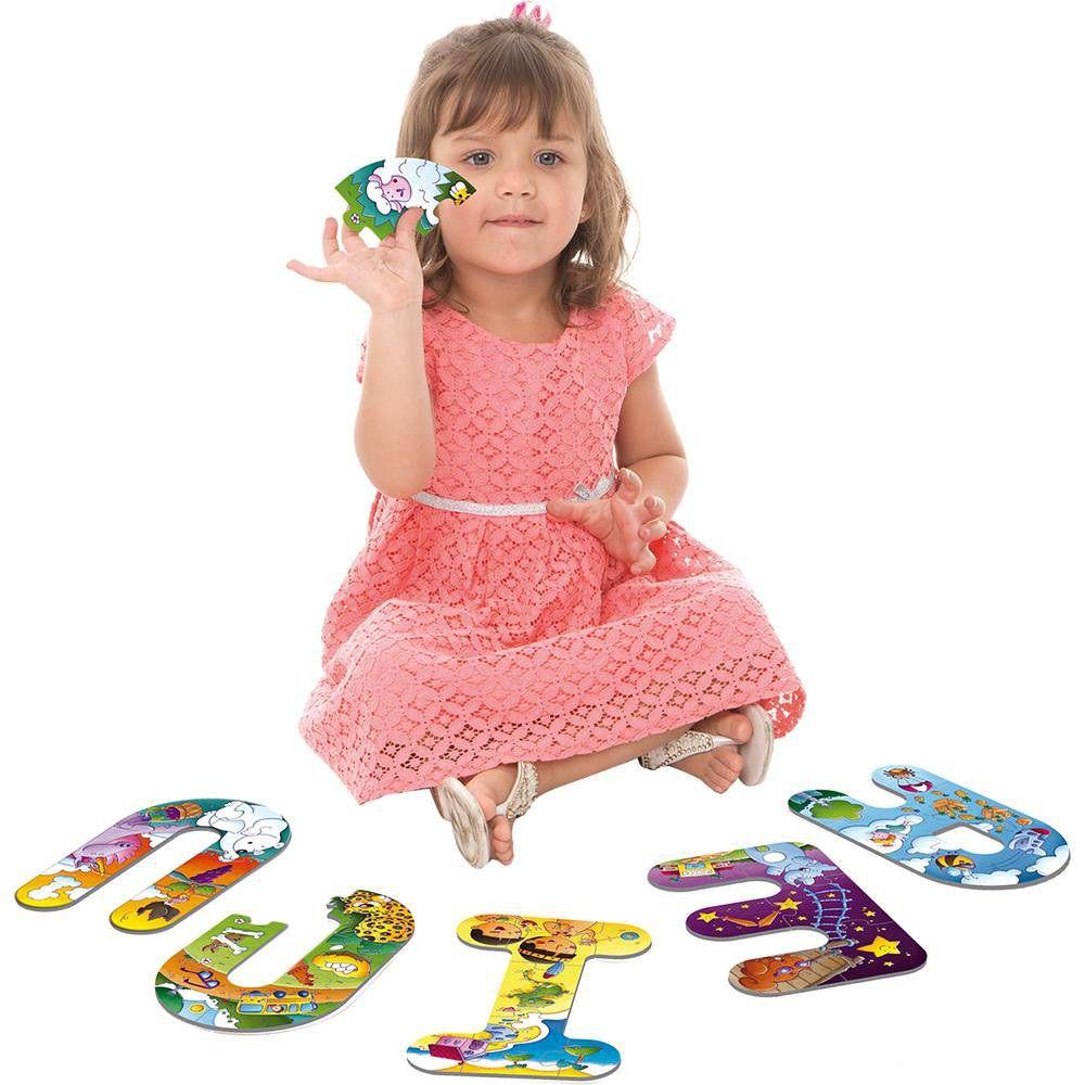 Quebra-cabeça Explorando as Vogais - Toyster