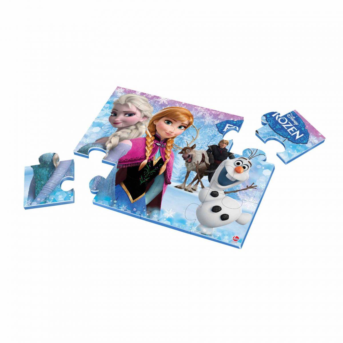 Quebra Cabeça Frozen 12 Peças em EVA - Lider