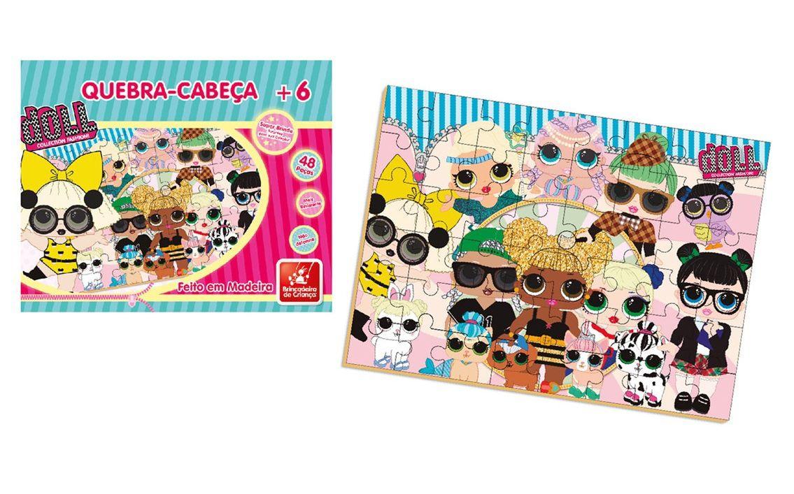 Quebra-cabeça Doll em Madeira 48 Peças - Brincadeira de Criança
